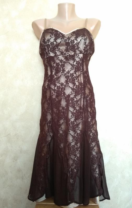 Платье вечернее laura scott двойное - Фото 6