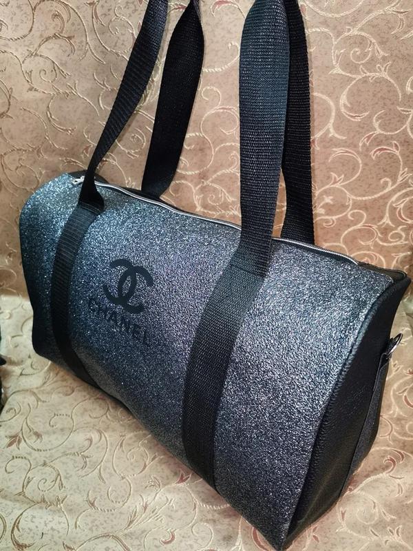 Спортивная женская сумка из pu кожи! для фитнеса, в спортзал,д... - Фото 6