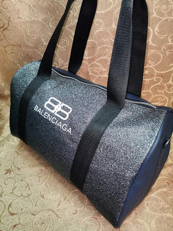 Спортивная женская сумка из pu кожи! для фитнеса, в спортзал,д... - Фото 8