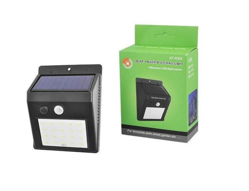 Светодиодный LED фонарь на солнечной батарее с датчиком движения