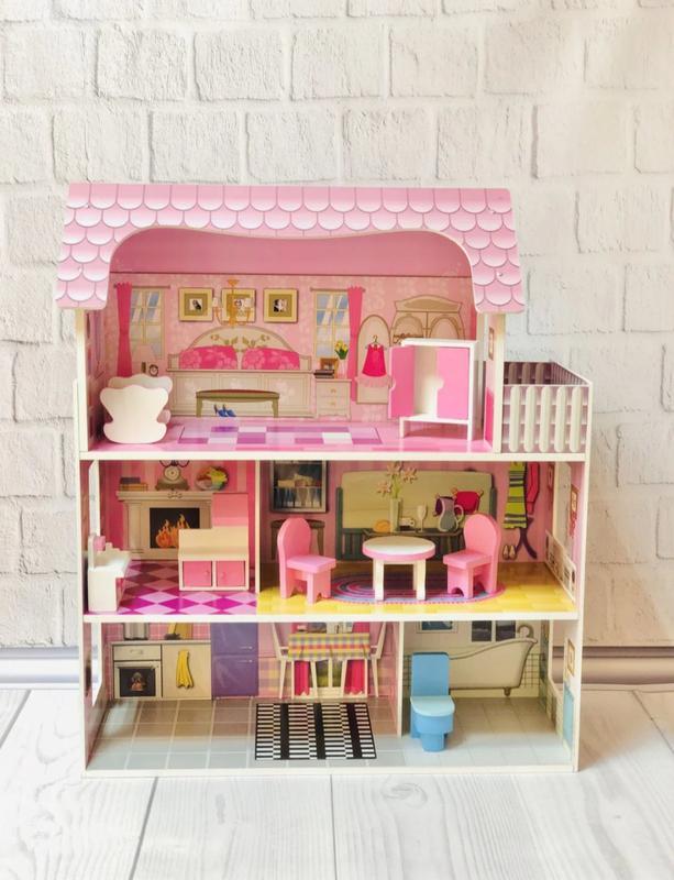 Домик для кукол с мебелью деревянный (подходит для кукол ЛОЛ)