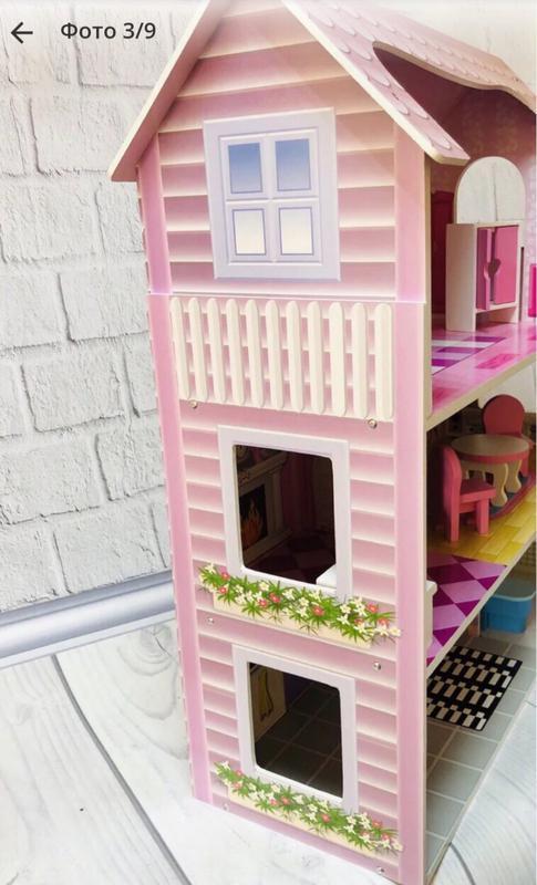 Домик для кукол с мебелью деревянный (подходит для кукол ЛОЛ) - Фото 2