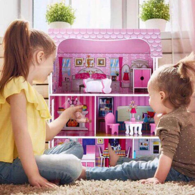 Домик для кукол с мебелью деревянный (подходит для кукол ЛОЛ) - Фото 3