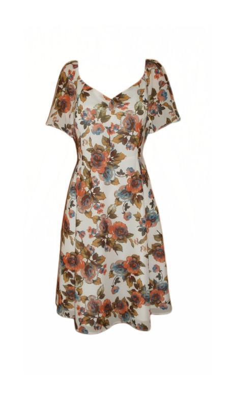 Летнее платье, сарафан расклешенный цветочный повседневное раз...