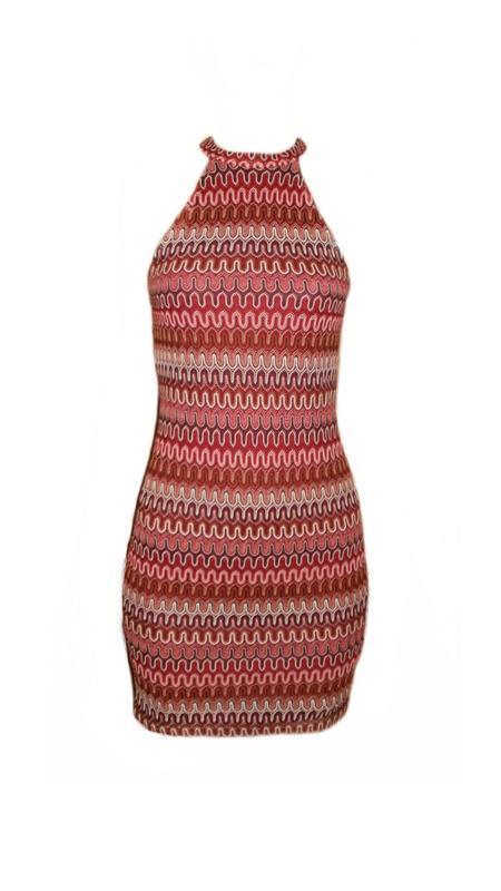 Платье открытые плечи принт марсала бордо