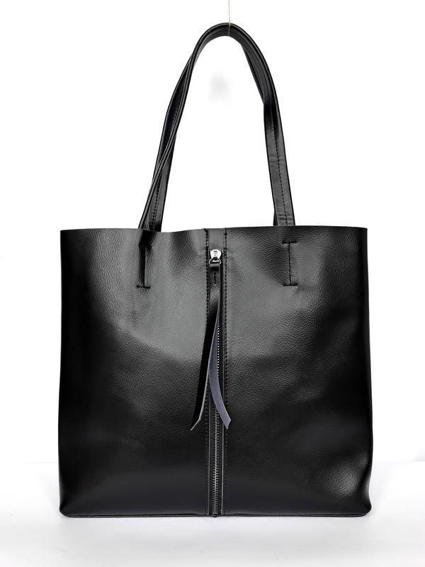 """Женская кожаная сумка """"tout"""" черная"""