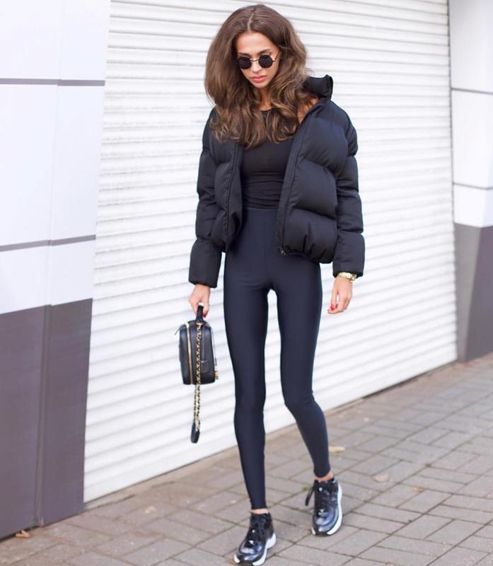 Шикарный трендовый объемный короткий пуховик куртка с карманам...