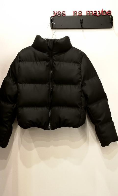 Шикарный трендовый объемный короткий пуховик куртка с карманам... - Фото 5