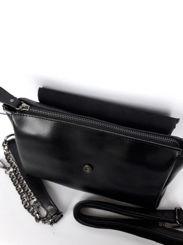"""Женская кожаная сумка """"cute crocodile"""" черная - Фото 3"""