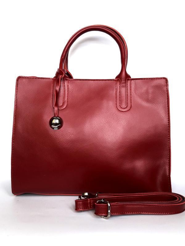 "Женская кожаная сумка ""arch"" красная"