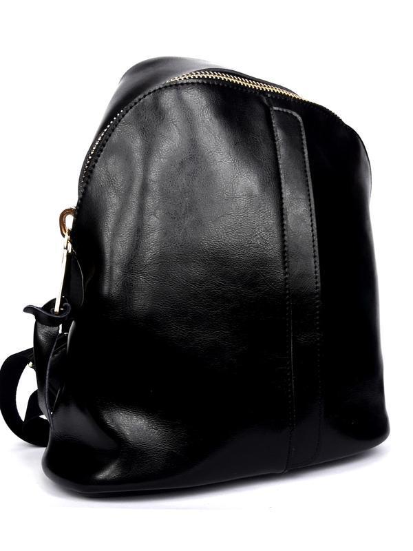 """Женский кожаный рюкзак """"pouch"""" черный - Фото 2"""