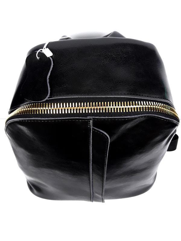 """Женский кожаный рюкзак """"pouch"""" черный - Фото 4"""