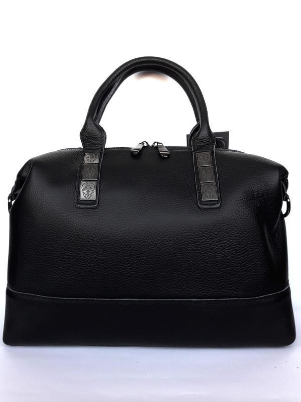 """Женская кожаная сумка-саквояж """"casablanca"""" черная - Фото 2"""