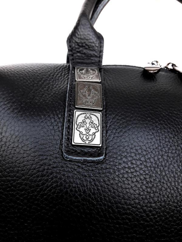 """Женская кожаная сумка-саквояж """"casablanca"""" черная - Фото 4"""