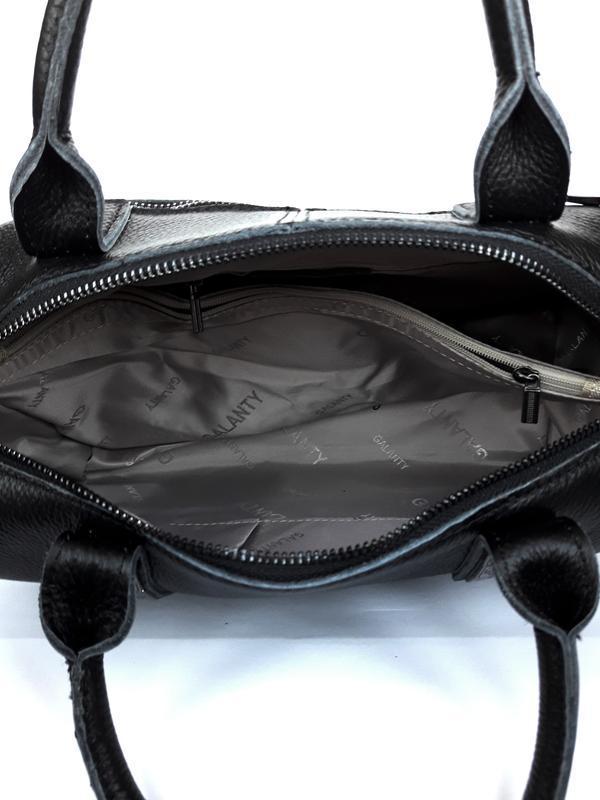 """Женская кожаная сумка-саквояж """"casablanca"""" черная - Фото 5"""