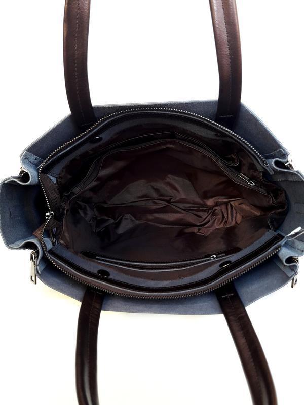 """Женская кожаная сумка """"envelope"""" коричневая - Фото 4"""