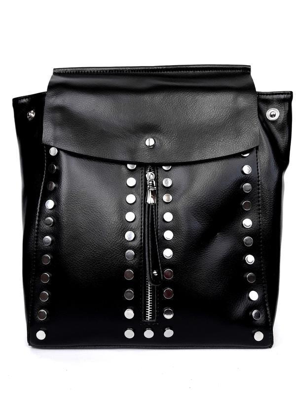 """Женский кожаный рюкзак """"steely"""" черный - Фото 3"""