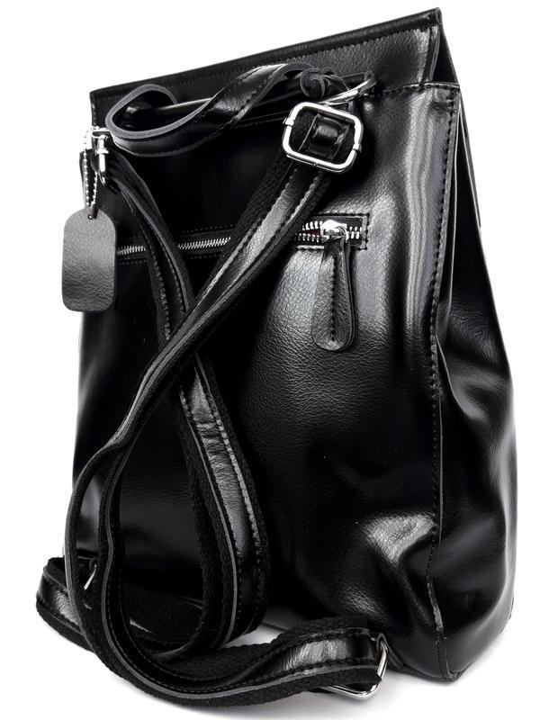 """Женский кожаный рюкзак """"steely"""" черный - Фото 5"""