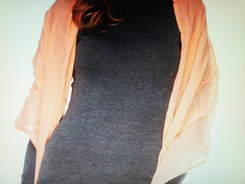 Шарф персикового кольору promod - Фото 2