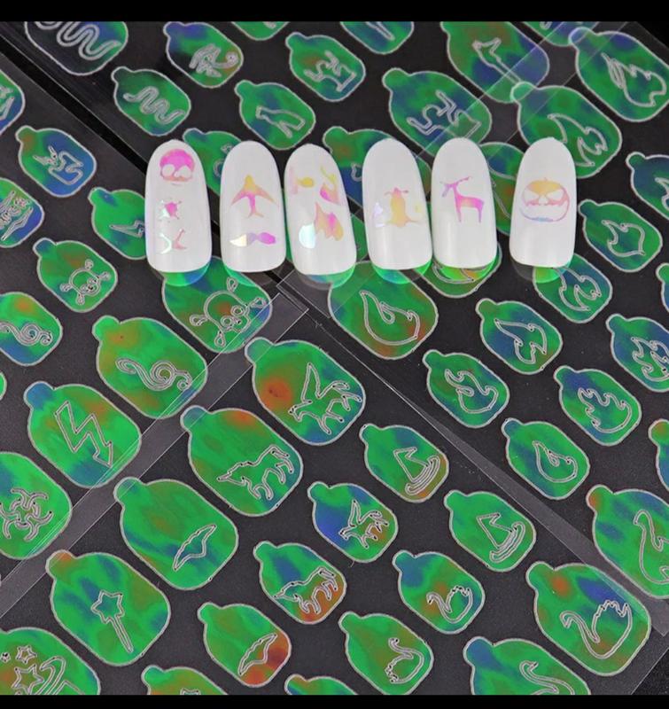 Набор наклеек 10шт наклейки на ногти для маникюра - Фото 5