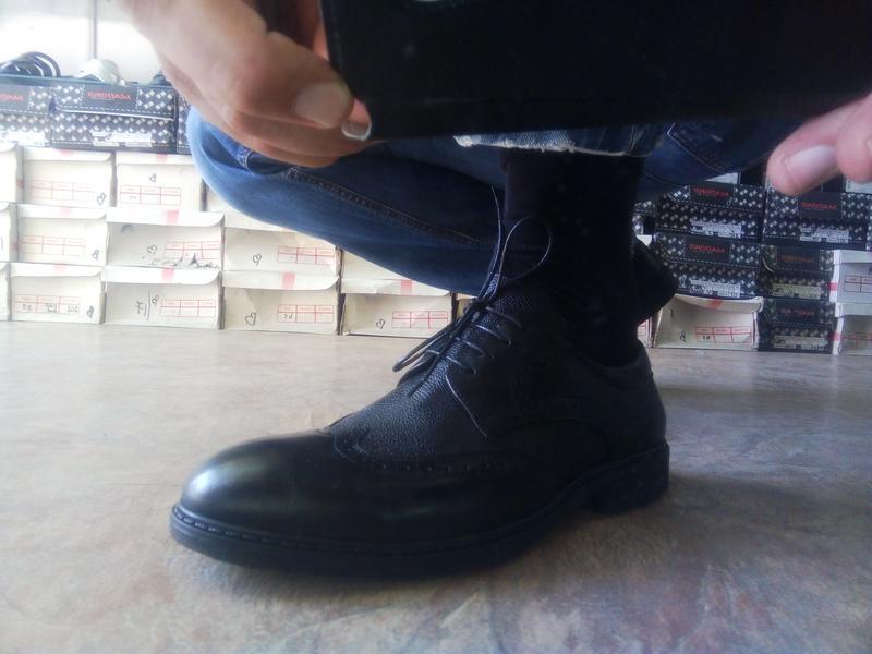 Распродажа!мужские осенние кожаные туфли-броги bertoni 40,41,4... - Фото 5