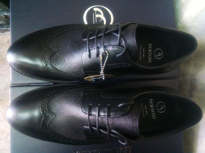 Распродажа!мужские осенние кожаные туфли-броги bertoni 40,41,4... - Фото 9