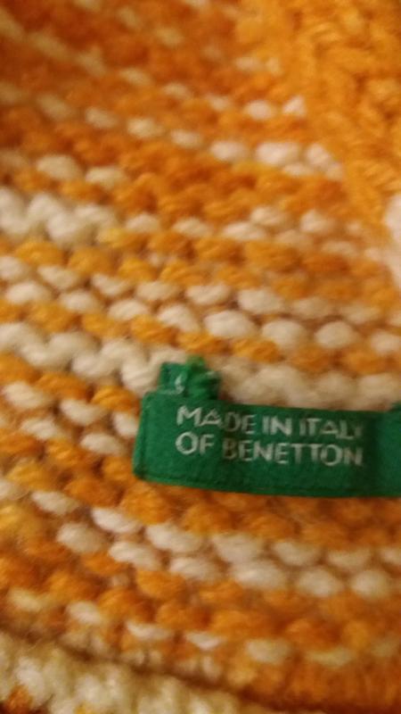 Шерстяной шарф benetton - Фото 4