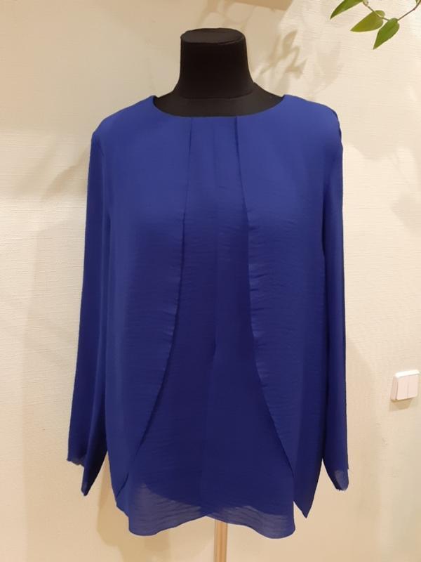 Шикарная легкая блуза кофта электрик cos раз.40-42