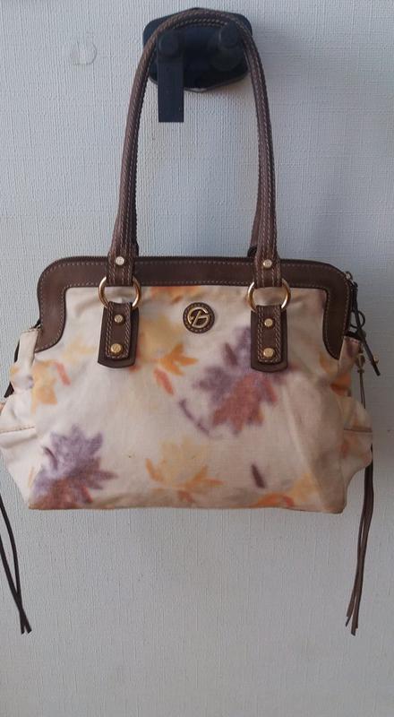 Стильная брендовая сумка francesco biasia (италия) кожа+текстиль