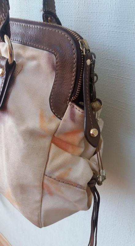 Стильная брендовая сумка francesco biasia (италия) кожа+текстиль - Фото 2