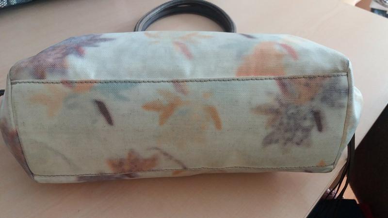 Стильная брендовая сумка francesco biasia (италия) кожа+текстиль - Фото 3