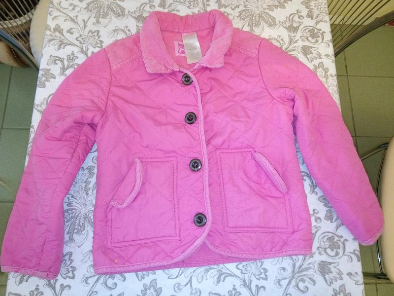 Розовая стеганная курточка