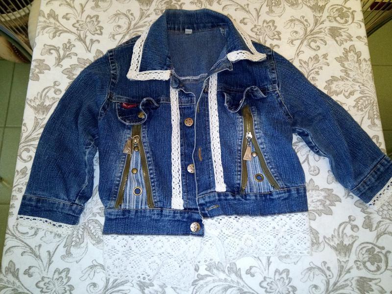Джинсовая курточка с кружевом