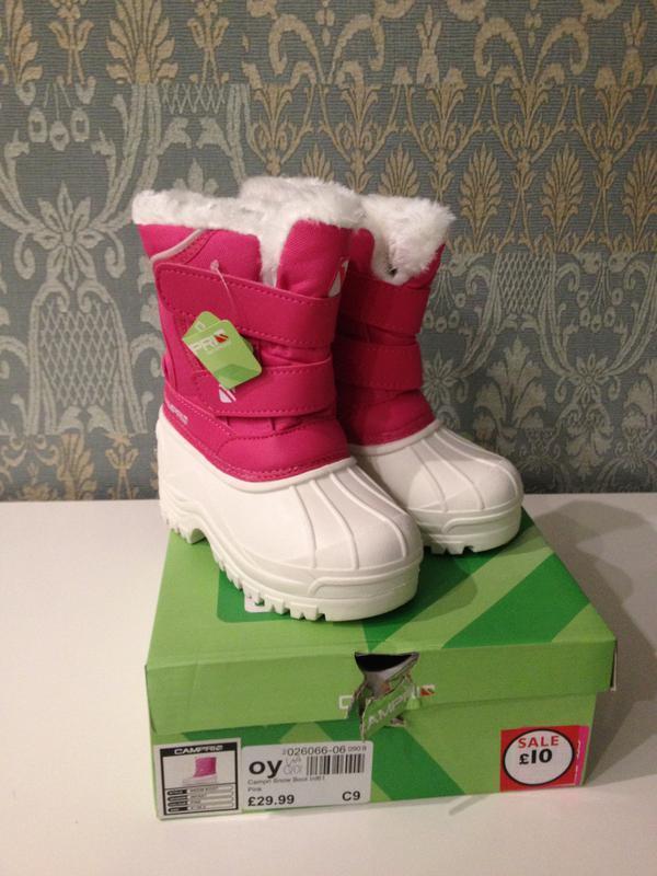 Детские сапоги campri infants snow boots, размер 21. 5 - Фото 2