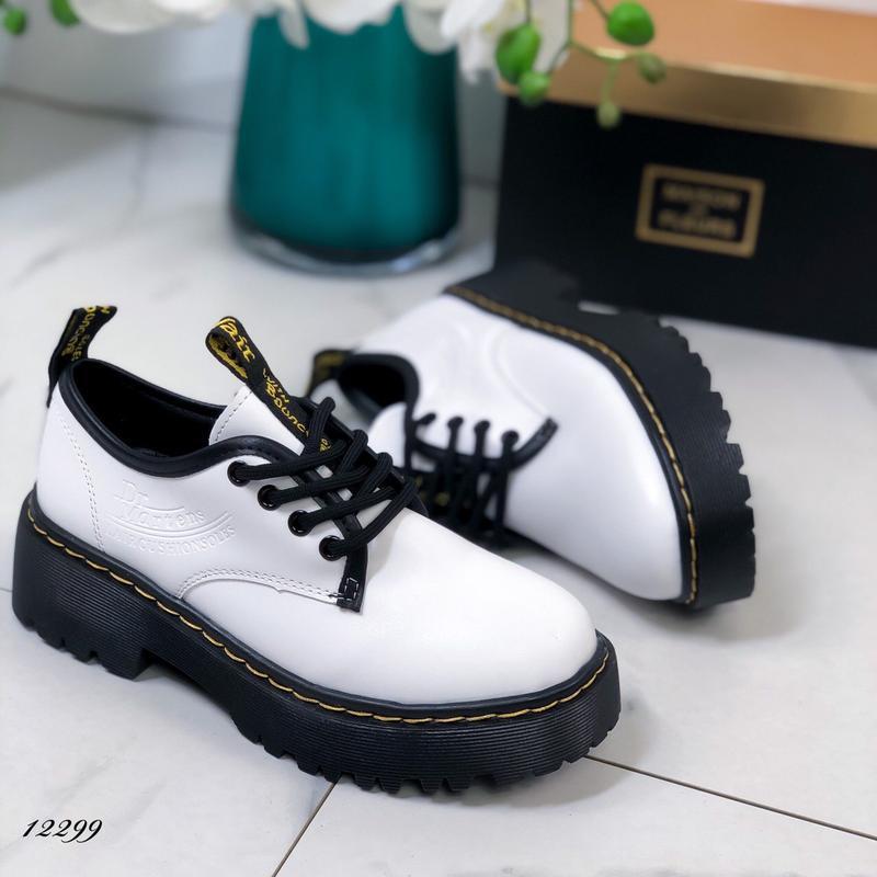 Туфли женские белые на высокой подошве - Фото 9