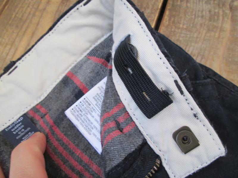 Теплые штаны джинсы gap на 12-18 мес, брюки на байковом подкла... - Фото 3