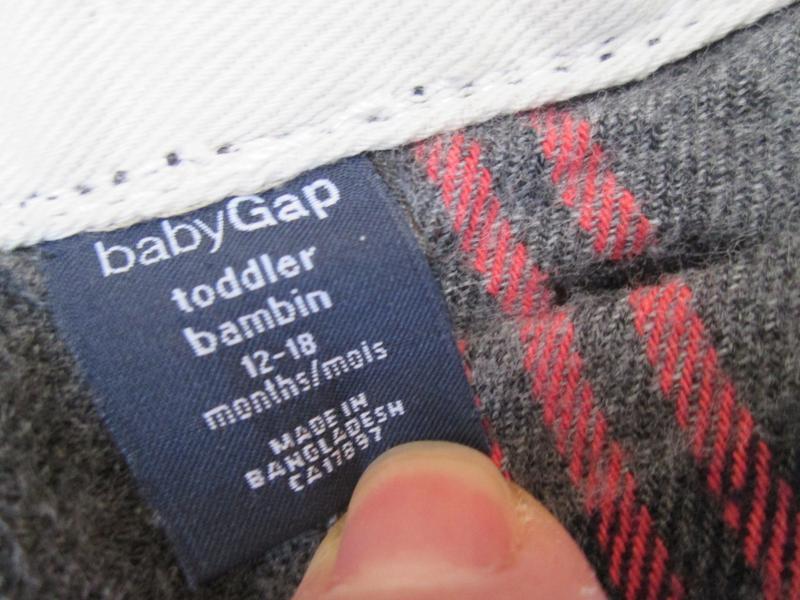 Теплые штаны джинсы gap на 12-18 мес, брюки на байковом подкла... - Фото 4