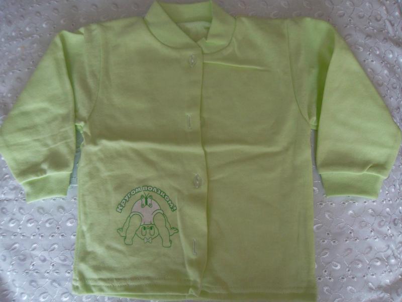 Кофточка,распашонка зеленая начес 40р 80р