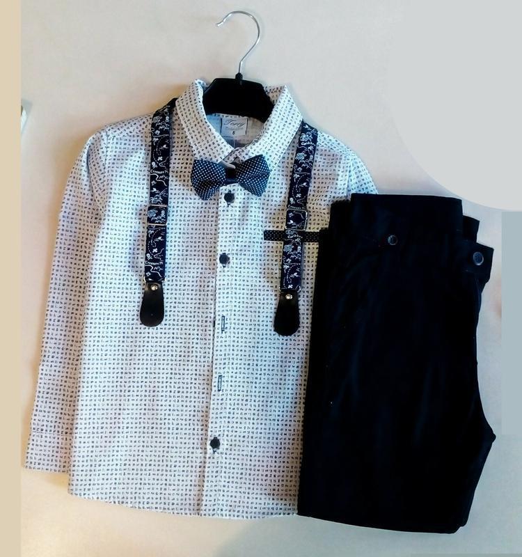 Нарядный костюм для мальчика! классика - брюки рубашка, подтяжки