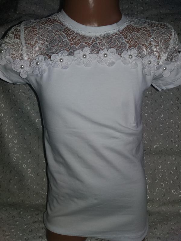 Нарядная футболка на девочку 134р бенини