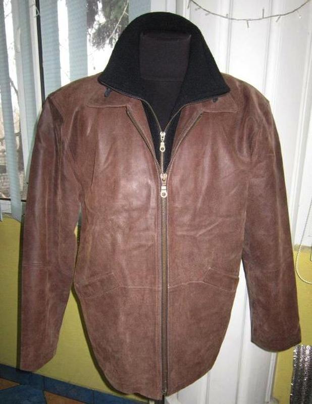 Утеплённая кожаная мужская куртка. лот 337