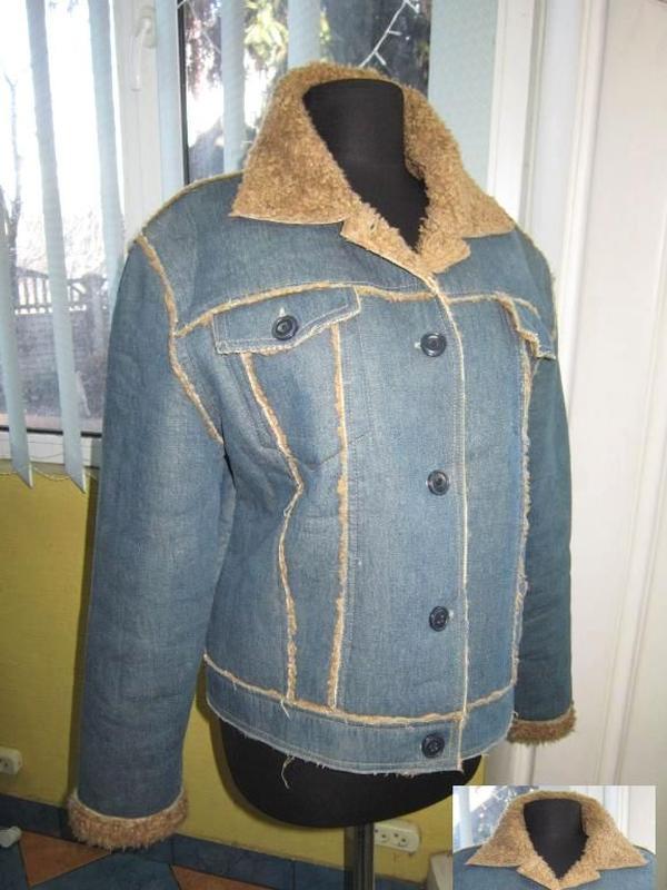 Джинсовая утеплённая женская куртка saix woman. лот 343