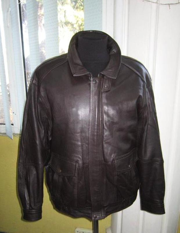 Большая кожаная мужская куртка creation by daniel. лот 328