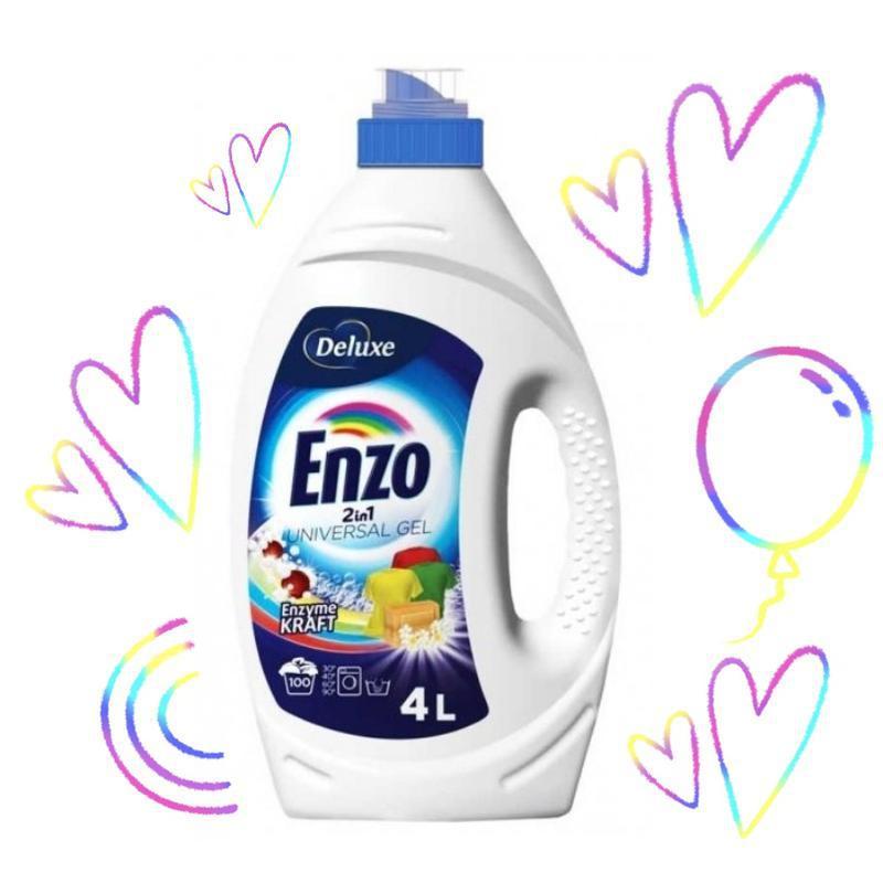 Гель для прання enzo deluxe 4л