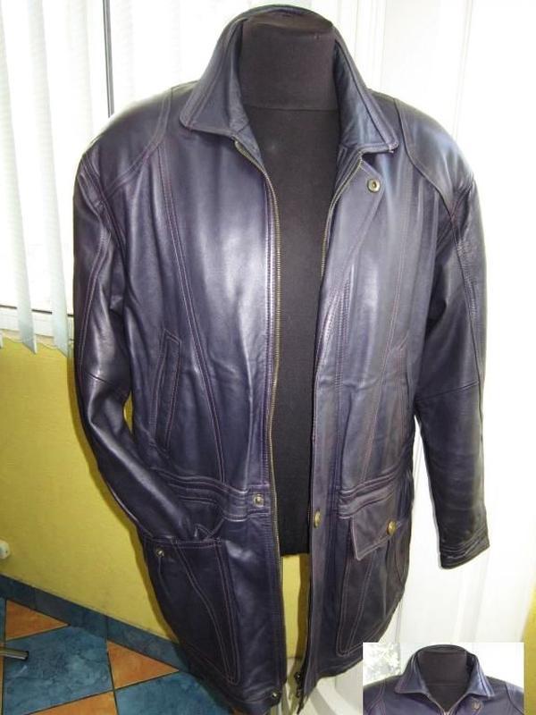 Стильная кожаная мужская куртка tesatti. италия. лот 447