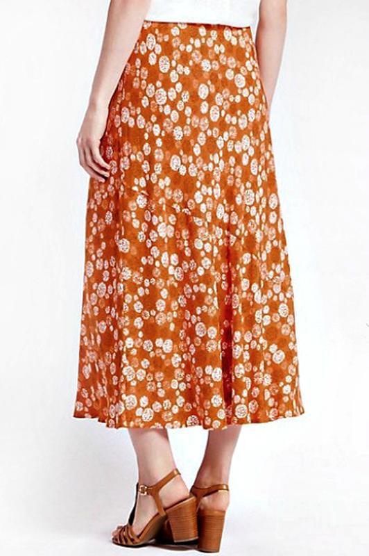 Легкая юбка а-силуэта с принтом из вискозы р.22 - Фото 3