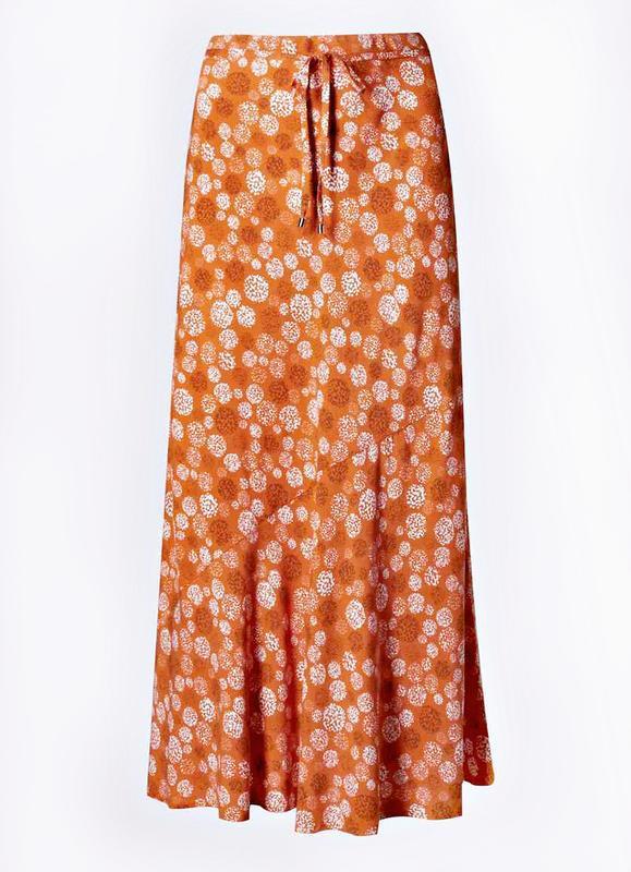 Легкая юбка а-силуэта с принтом из вискозы р.22 - Фото 4