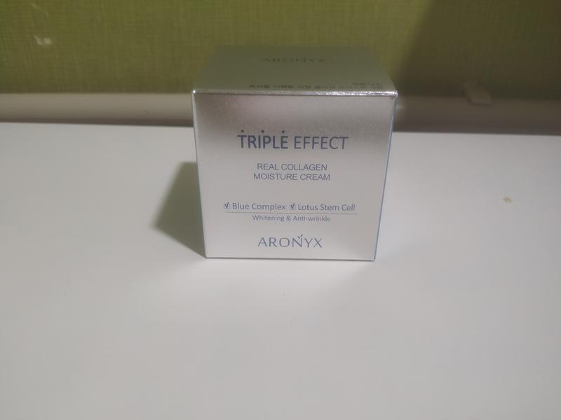 Крем для лица Aronyx Triple Effect real collagen moisture cream - Фото 3