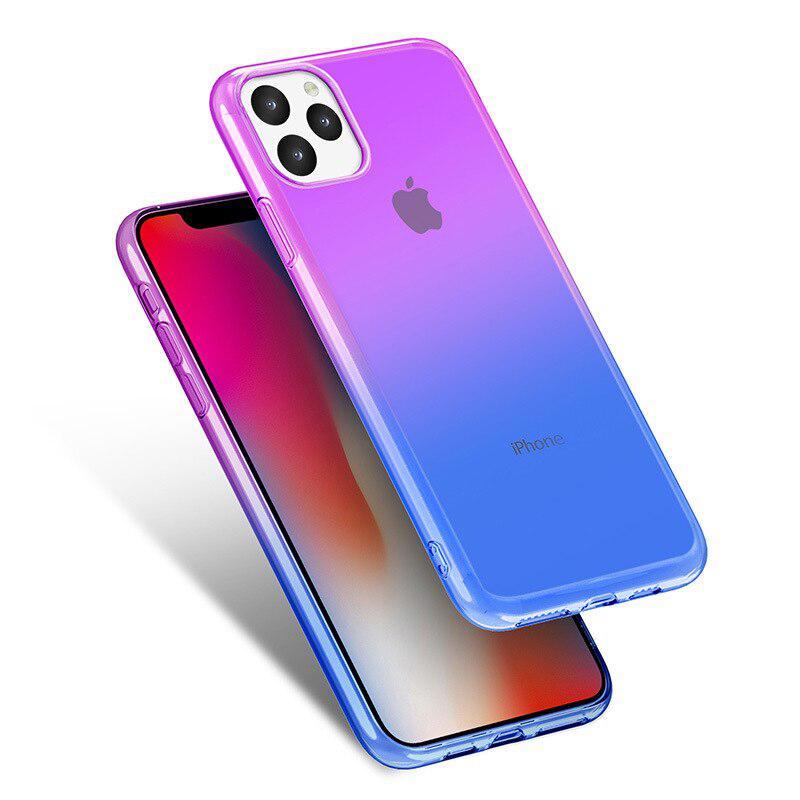 Чехол на iphone 11 Сиренево-Синий