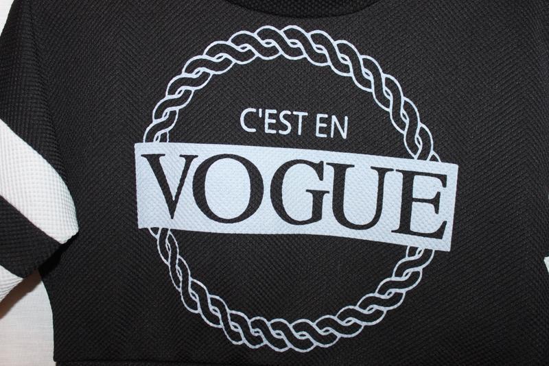 Реглан джемпер короткий чёрно белый vogue, оригинал, италия 34... - Фото 6